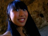 A wonderful Asian girl has fun with a tramp